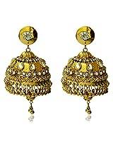 Jhoomar Golden Big Jhumka Traditional Earrings