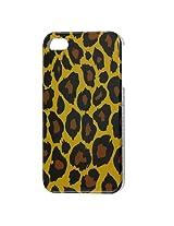 Black Brown Leopard Pattern IMD Hard Plastic Back Case for iPhone 4 4G 4S