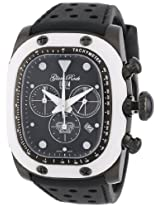 Glam Rock Watches, Gulfstream Chronograph Black Dial White Ceramic Case Cover Black Silicone, Model GR70108