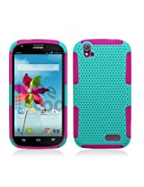 Aimo Wireless Hybrid 2 in 1 Protective Case for ZTE Grand X Z777 - Retail Packaging - Hot Pink/Lime