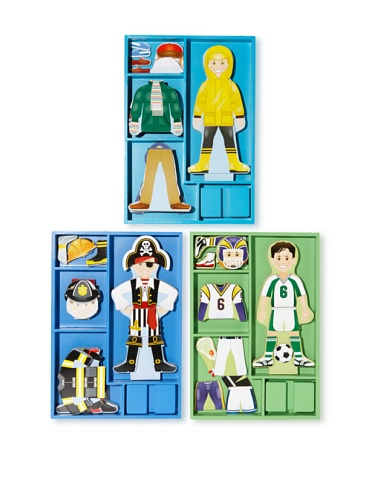 Melissa & Doug Boy's Magnetic Dress Up Set
