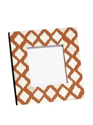 Mela Artisans Inlaid Bone Lattice Photo Frame, Terra Cotta, 4