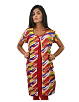 Riiti Designs Women's Cotton Kurti (Multi Colour) (Large)