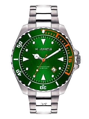 K&BROS 9472-2 / Reloj de Caballero  con brazalete metálico Verde
