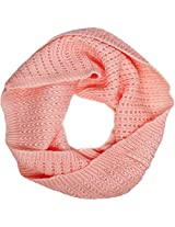 Simplicity Winter Warm Infinity Knit Scarf Loop Hood Fashion Scarf, Pink
