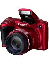 Canon Powershot SX400 IS 16MP Point and Shoot Camera (Red) with 30x Optical Zoom, 8GB Card and Camera Case