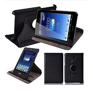 360 Degree Rotatable Flip case cover for Asus Fonepad 7 ME175CG Dual Sim Tablet (Black)