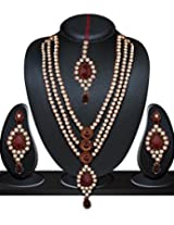Niki Jewels Alloy Patwa Set for women (Multicolour (010 210 AK11)