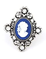 Cinderella Collection by Shining Diva Blue & Silver CZ Ring for Women 7112r