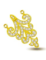 Trishul Flower 18kt Diamond & Gold Pendant