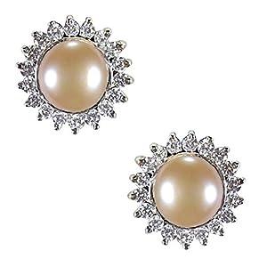 Pearl Paradise Silver Cz Pearl Earring