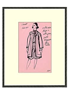 Vintage Women's Venet Fashion Sketch c.1968