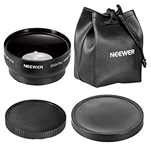 Neewer 10000082 52mm 0.45X Wide Angle High Definition Lens with Macro for NIKON D5300 D5200 D5100 D5000 D3300 D3200 D3000 D7100 D7000 DSLR Cameras (Black)