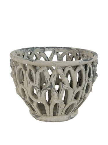 A&B Home Garland Collection Medium Leaves Pot