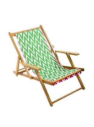 Julie Brown Green/Pink Reversible Beach Chair