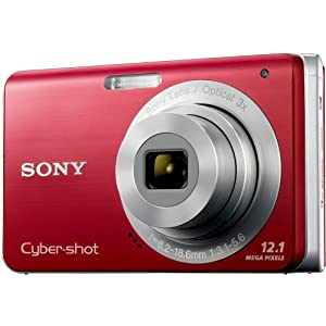 Sony Cybershot DSC-W190 12.1MP Digital Camera with 3x Super Steady Shot Stabilized Zoom and 2.7 inch LCD (Red)