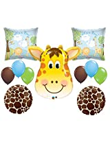 Jungle Its A Boy Giraffe Baby Shower Balloon Decoration