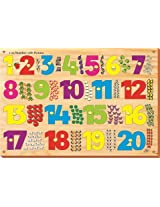 Kinder Creative KCN 18 1 20 Number with Picture with knob, Multi Colour