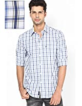 White Checks Sport Fit Casual Shirt