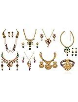 Variation Grand Wedding Jewellery Combo With Kada For Women