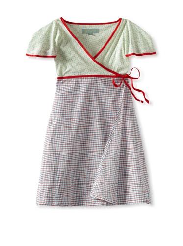 Zolima Girl's Crossover Dress (sand blue)