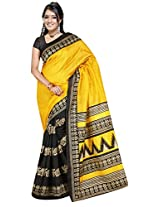 Winza party wear bhagalpuri print cotton silk sarees for women ladies