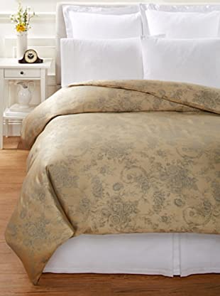 Home Treasures Victoria Floral Duvet Cover (Gold/Blue)