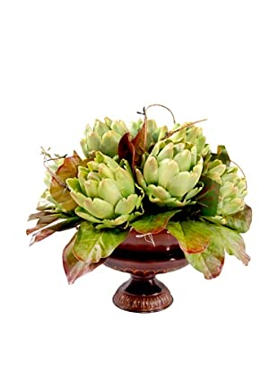 Creative Displays Artichokes in Metal Urn, 19x14x19
