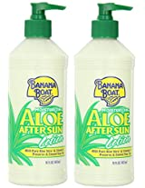 Banana Boat Aloe After Sun Lotion 16 Ounce Bottle Aloe 16 oz (Pack of 2)