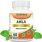 Morpheme Amla Capsules Vitamin C & AntiOxidant - 500mg Extract - 60 Veg Capsules