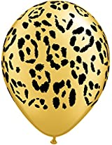 "Pioneer Balloon Company 50 Count Leopard Spots Latex Balloon, 11"", Gold"