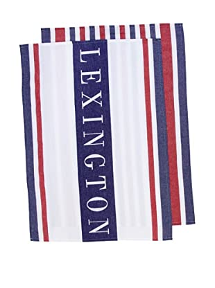 Lexington Company Set De Paños Rayas (Multicolor)