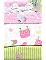 LITTLE BEDDING BY NOJO PRINCESS ROSE 3PK FLANNEL BLANKETS