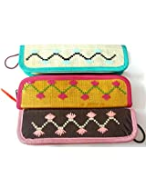 Set of 3 Pencil Pouch,Pencil Case,Pen Case,Coin Purse,Wallet,Pencil Box