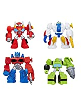 Playskool Heroes Transformers Rescue Bots Figures, Set Of 4: Optimus Prime, Heatwave The Fire Bot, High Tide, And Boulder The Construction Bot, 3.5 Inches