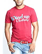 Masculino Latino Casual Red T-shirts Round Neck for Men MLT1008B-S