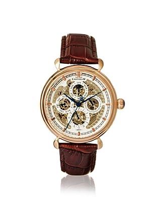 Earnshaw Men's 8043-04 Grand Calendar Brown/White Stainless Steel Watch