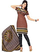 atisundar gorgeous Brown Traditional Cotton Printed Salwar Suit- 4341_39_5052