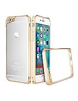 iPhone 6 Plus Case, Pretid iPhone 6 Plus Premium Metal Bumper Frame Case with Extra Camera Lens Protection for Apple iPhone 6 (5.5-Inch) (iPhone 6 Plus, Gold)