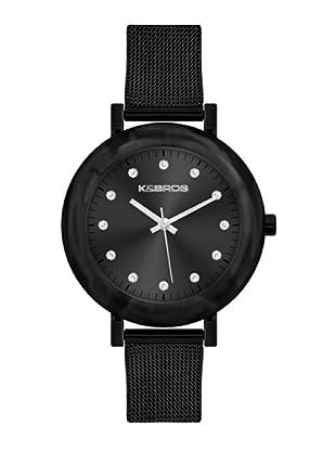 K&BROS 9183-1 / Reloj de Señora  con brazalete metálico negro