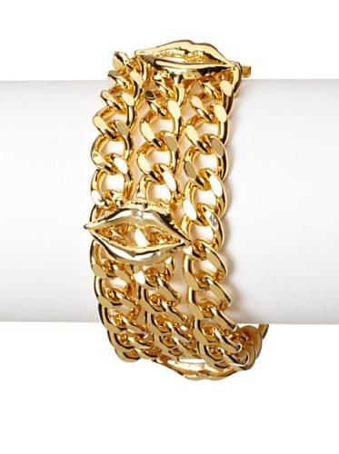 Jules Smith Gold Lips Toggle Bracelet