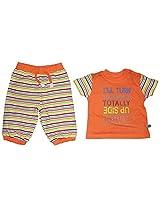 FS Mini Klub Baby Boys Cotton Top and Bottom Set - (0-3 Months)
