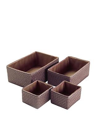 Zings Set De 4 Cajas Rectangulares Chocolate