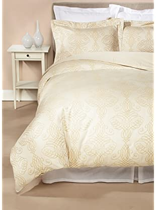 Peacock Alley Shadow Duvet Cover Set (Champagne)