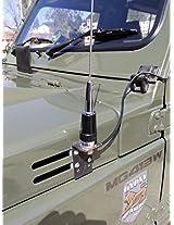 NPC L SHAPE ANTENNA MOUNT BRACKET FOR HF/VHF/UHF CAR ANTENNA - UHF MALE / UHF FEMALE 15 FEET CABLE - 2 YEAR WARANTY