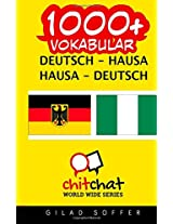1000+ Deutsch - Hausa Hausa - Deutsch Vokabular