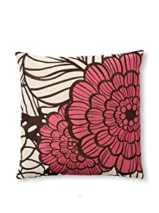 Trina Turk Embroidered Jungle Bloom Pillow (Pink)