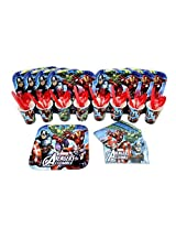 Marvel Avengers Lunch Plate, Napkin, Cup, Fork, Spoon, Knife Party Set for 8