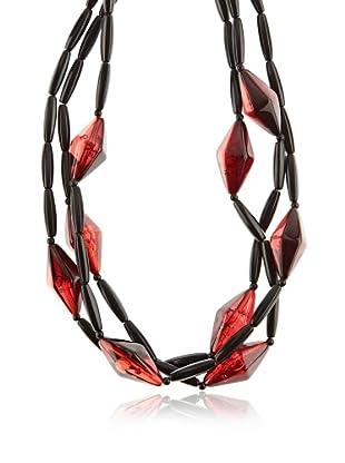 Silvio Tossi Collar - negro/rojo