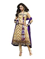 Shiva Collections Women's Straight UnStitched Salwar Suit